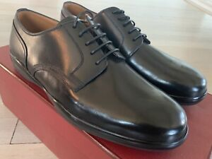 $500 Bally Mincio Black Leather Laces Up Shoes Size 6.5 EEE Made in Switzerland
