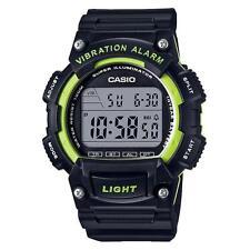 Casio Men's Digital Black Resin Band, 100 Meter WR, Vibration Alarm, W736H-3AV