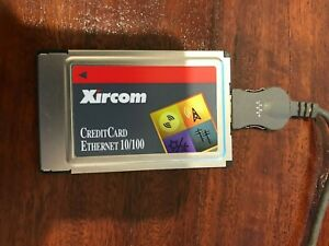 Xircom CreditCard Ethernet 10/100 PCMCIA PC Card CE3B-100BTX + Cable