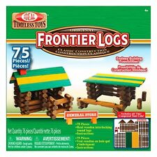 NEW Ideal Frontier Logs 75 Piece Classic Wood Construction Set FREE SHIPPING