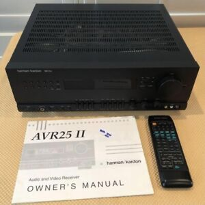 Harman Kardon AVR25ii A/V Receiver Avr 25 ii with Remote And Manual Bundle