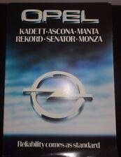Opel Range brochure 1980 Kadett Ascona Manta Rekord Senator and Monza