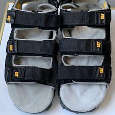 Mens 10 M Caterpillar CAT Walking Machines GrayBlack Sandals adjustable 3 Strap