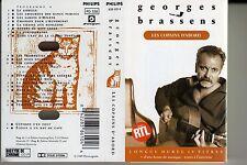 """K 7 AUDIO (TAPE)  GEORGES BRASSENS  """"LES COPAINS D'ABORD"""""""
