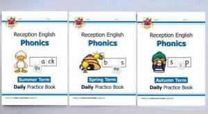 Reception Phonics Autumn, Spring & Summer Term Pack of 3 Workbooks Age 4-5 years
