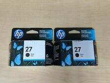 Lot of 2 Genuine HP 27  Ink Cartridges Black C8727AN Black Box