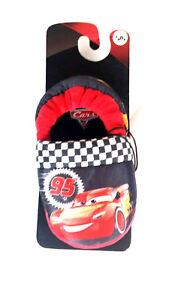 DISNEY CARS 3 Lightning McQueen Toddler Boy's  Plush Slippers Size 5/6 New
