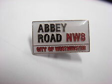 Abbey road sign Pin badge. The Beatles. NW8 Westminster lapel badge