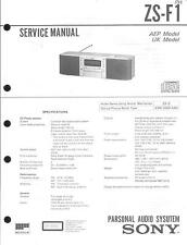Sony Original Service Manual per ZS-F 1