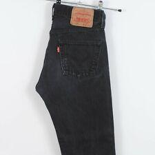 Levis 501 Straight Leg Jeans in Faded Black Red Tab W29 L30