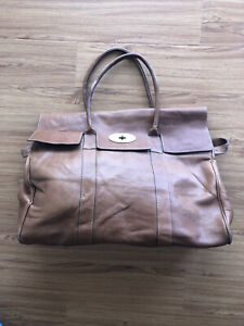 MULBERRY Natural Leather Oversized Bayswater Oak