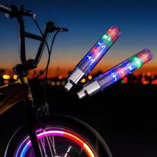 2x 5 LED Flash Light Bicycle Motorcycle Car Bike Tyre Tire Wheel Valve Lamp Top
