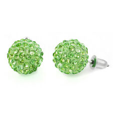 Women's Handmade Shamballa Style Austrian Crystal Ball Gem Stud Earrings Gift