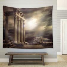 Wall26 - Apollon Temple Ruins Antalya Turkey Fabric Wall Tapestry - 51x60 inches