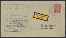 1932 AAMC #3235b Von Gronau Flight, Montreal July 27 to Milwaukee AUG 9, Signed