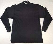 Nike golf turtleneck long-sleeve shirt men sz L black/white vintage Peru