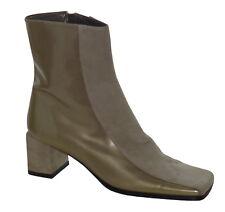 Vintage années 1990 souliers Mod en Cuir + Bottines en daim taille 2.5 GOLD + beige