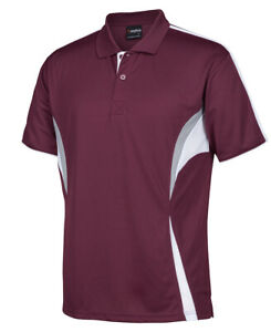 Super Hornet s/s cool polo shirt - maroon/white/grey with pocket