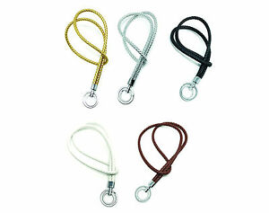 Braided Vegan Leather Neck LANYARDs with Double Key Rings / Keychain for Keys
