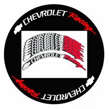 "Chevrolet Racing Tire Lettering PERMANENT Stickers 16""-23"" Wheels 1.25"" 8 Pcs"