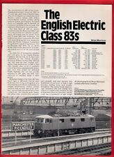 Rail Magazine Extract ~ English Electric Class 83s - Bo-Bo Electric Locos - 1989
