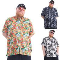 Mens Big Size Hawaiian Shirts Short Sleeve Printed Designs Plus Size Summer Wear