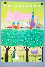 Stadt Heidelberg Plakat Entwurf H. Gutschow DIN A1 Vintage Poster 50er 60er
