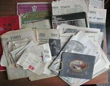 Large Lot Ephemera Times Newspaper Stamp Duty Docs Souvenirs 1935 Onwards Bundle