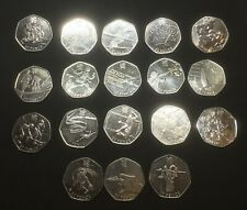 Coins - 50p Olympic Commemorative Coins - Beautiful!
