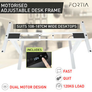 【EXTRA10%OFF】Height Adjustable Standing Desk Sit Stand Electric Motorised