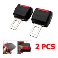 2 Hebillas de Cinturón de Seguridad para Coche Auto Abrazadera Enganche Conector