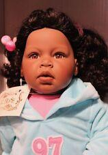 "MIB  24"" Lee Middleton Vinyl Doll ""Tiny Cheer"" Dark Skin African Black Doll"
