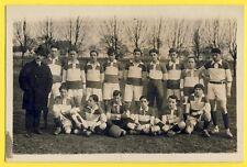 cpa Carte Photo LEMESLE rue St Jacques PARIS 5e EQUIPE de FOOTBALL vers 1920