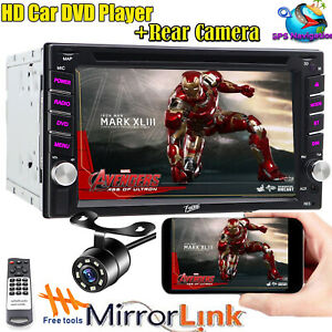 """Camera +6.2"""" Car Stereo CD DVD Player Double DIN MirrorLink GPS Fit For Nissan"""