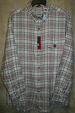 CHAPS long sleeve Flannel shirt Plaids 1 Pocket Soft 100% Cotton Button-Front
