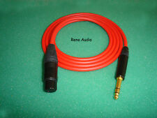 25' CANARE STAR QUAD L-4E6S  NEUTRIK NC3FX-B TO NP3X-B  XLRF TO TRS - ANY COLOR