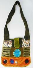 R351 New Trendy & Artistic Shoulder Drop Velvet/Cotton Bag Hand Made in Nepal