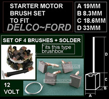 STARTER MOTOR BRUSH SET BRUSHES  FORD DELCO FOCUS TRANSIT FIESTA DIESEL  ETC