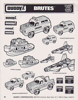 VINTAGE AD SHEET #2461 - 1980s BUDDY L TOYS - BRUTES - TUG BOATS - SPACE FIGHTER