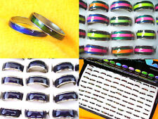 New Wholesale Lots 100Pcs Width 3mm-10mm Fashion Colorful Mood Finger Rings
