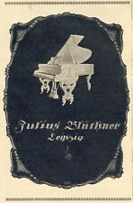 Blüthner Piano Wing Advertising 1927 Advertising (N)