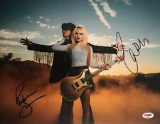 Orianthi Panagaris Richie Sambora Dual Signed Autographed 11x14 Photo Psa/Dna