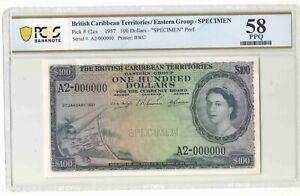 British Caribbean Territories FULL SET of SPECIMEN RARE PCGS