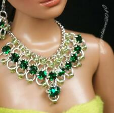 """Rhinestone Necklace and Earring Jewelry Set for 16"""" Tonner Tyler doll 032B"""