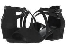 c78547786574 Eileen Fisher Kyra Black Nubuck Block Heel Sandal Shoes 9 1 2 9.5 M Rt225