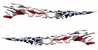 AMERICAN FLAG Racing Boat Car Truck Trailer Graphics Decals Stickers Wrap 2- 50""