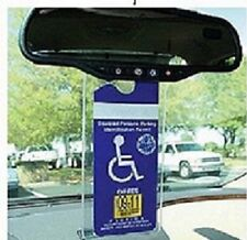 HANDICAPPED PLACARD HOLDER TRANSPARENT CLEAR REAR VIEW MIRROR DASHBOARD