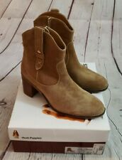 Hush Puppies Hannah Mid Boot Size 10 M New In Box Tan Suede Western Inspired