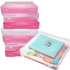 8pk Iris Portable Scrapbooking Cases 12x12 Paper Supplies Storage Tote Box Bin