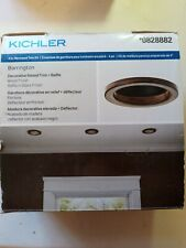 Kichler 4 inch Recessed Trim Kit Brushed Nickel Flat Trim + Baffle #0828892 gr